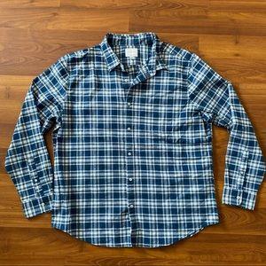American Eagle Men Plaid Button Up Shirt